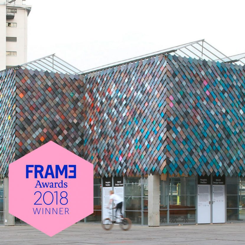 People's Pavilion won the Frame Awards in category Sustainable Design.