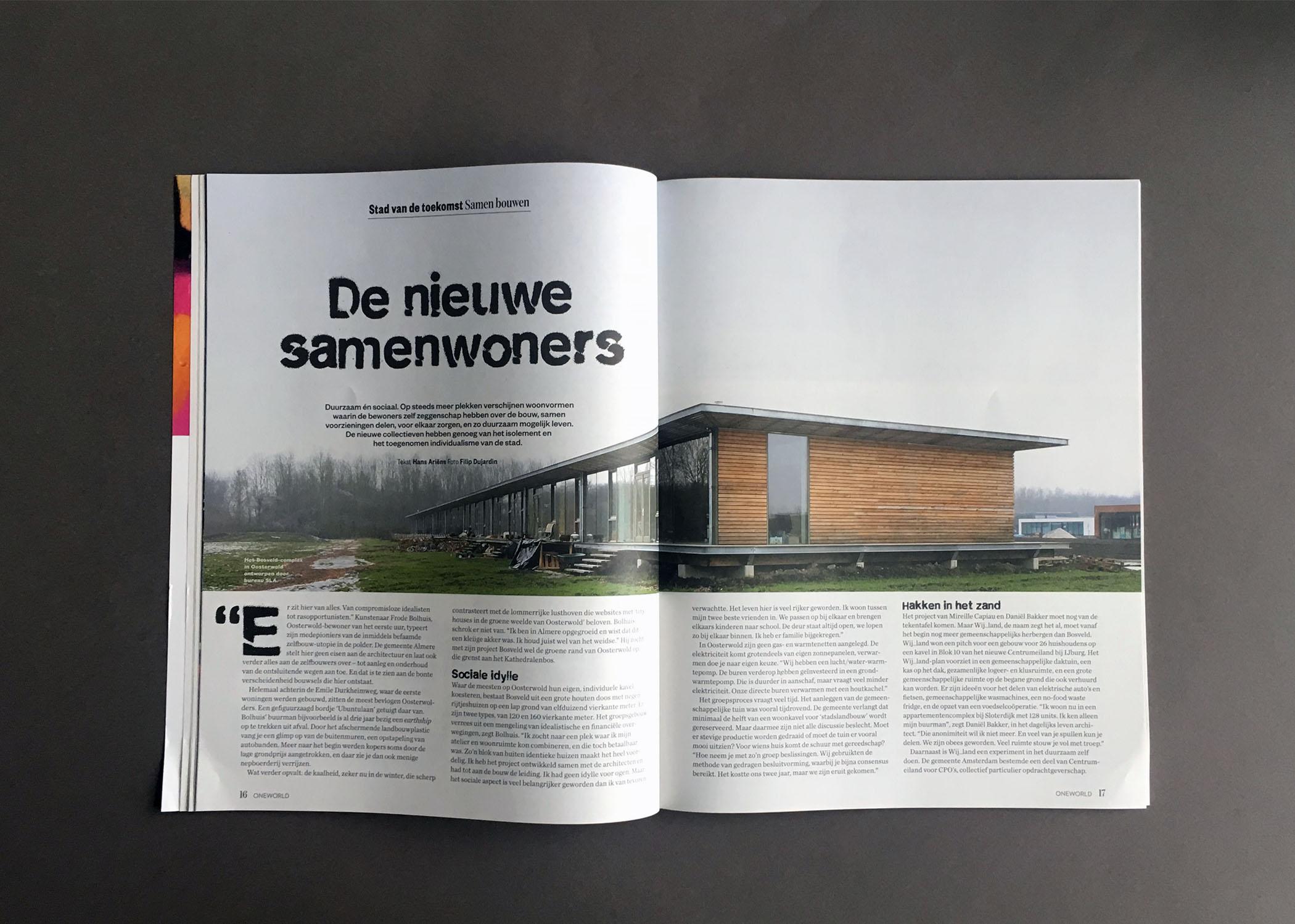 Bureau En Zo.Housing Project Oosterwold In One World Magazine Bureau Sla