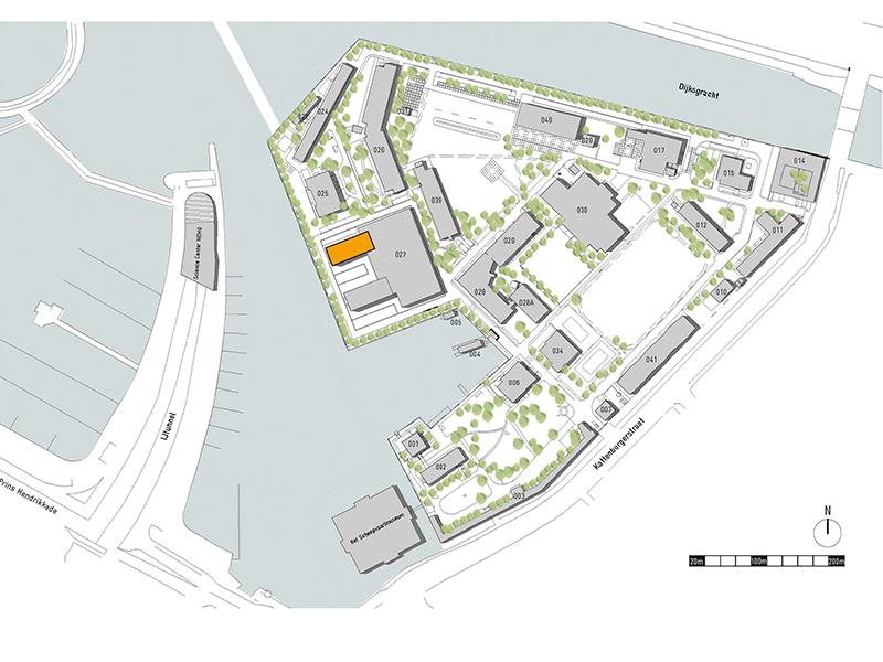 BureauSLA transformeerde een betonnen casco tot een openbaar gebouw op het Marineterrein in Amsterdam. Marine base, gebouw 27, makerversity, amsterdam marineterrein, openbaar gebouw, renovatie,